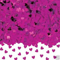 HOT PINK Sparkle HEARTS Table confetti Bright Pink Party Table Decorations