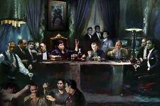 Scarface,Pacino,Sopranos,Goodfellas,Godfather,  J Gandolfini Last Supper by Star