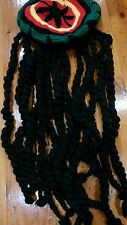 **NEW Rasta Beanie hat with black Dreadlocks wig/wigs - Halloween/Party/Costume