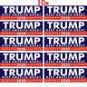 Hot 10Pcs Donald Trump President 2020 Keep America Great Again Bumper Sticker w7