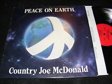 COUNTRY JOE McDONALD Peace On Earth Unusual 1984 Rag Baby Issue LP Hart BOB WEIR