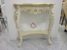 consolle tavolino tavolo legno da ingresso classico stile veneziano oro avorio