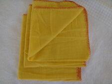 Pinnacle shoe cleaning polish dust cloth 100% yellow cotton - lot of 3 bulk