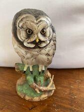 "Andrea By Sadek Great Gray Owl 5 1/2"" Porcelain Figurine #7682 Japan"