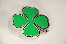 L003611 BELT BUCKLE Irish Shamrock / Fine Pewter / Great American Products #4602