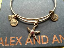 ALEX and ANI CHARITY By DESIGN ARMS Of STRENGTH Crystal STARFISH Bangle BRACELET