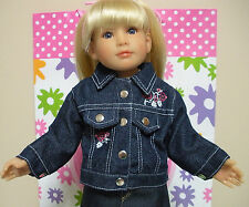 Fits 18 Inch Kidz 'n' Cats Doll .. Denim Jean Jacket.... D423