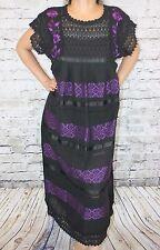 Mexican Tunic Huipil Dress Telar Backstrap loom 100% Cotton Manta Small