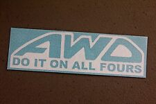 AWD Sticker Decal Vinyl JDM Euro Drift Ken Block illest Fatlace Subaru racing