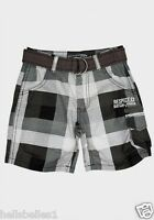 BOY'S RESPECT CHECKED LONG SHORTS 4-5 5-6 7-8 9-10 YEARS