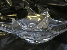 Vintage - superbe et grande coupe en cristal signé cristal ile de France