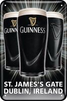 Guinness Three Pints embossed metal sign 300mm x 200mm (sg)