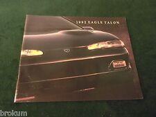 1992 EAGLE TALON SALES BROCHURE ORIGINAL W/ COLOR CHART (BOX 418)
