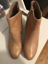 Vince Camuto Tan Ankle Boots With Gold Glitter Size 9.5 New