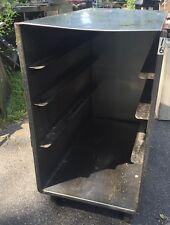 Stainless Mobile Full Size Sheet Pan Rack Cabinet Cart