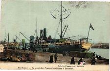 CPA  Bordeaux-Le quai des Transatlantiques á Bacalan (177016)