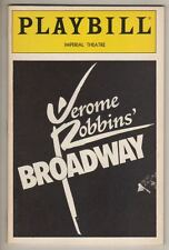 """Jerome Robbins' Broadway""  Playbill  1990  Tony Roberts,  Faith Prince"