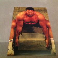 MAGNUS VER MAGNUSSON HAND SIGNED 12 X 8 PHOTO WORLDS STRONGEST MAN CHAMPION