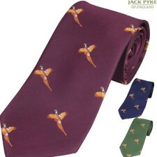 JACK PYKE PHEASANT TIE MENS SUIT TIE GIFT SHOOTING HUNTING CLAY PIGEON RIFLE