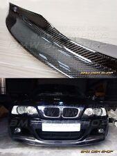CARBON FIBER BMW E46 M3 CSL FRONT LIP SPLITTER 2X2 WEAVE CLASSICAL