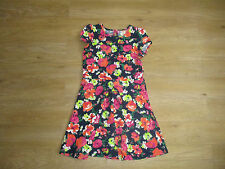 **AGE 10-11 YEARS GIRLS DRESS, FLOWER PRINT, BRIGHT COLOURS, HOLIDAYS (A)**