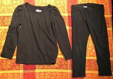 Toddler Girls Size 3T Black Circo Pants Leggings And Long Sleeve Shirt. Outfit