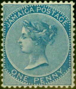 Jamaica 1884 1d Blue SG17 Fine Mtd Mint