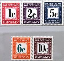 RSA SÜDAFRIKA SOUTH AFRICA 1968 Portomarken 66-67 69-71 w/o 68 Postage Due MNH