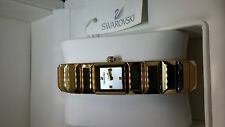 Baguette Bracelet Luxury Watch GOLD Quartz Analog Movement SWAROVSKI CRYSTAL