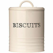 Sketch Cream Kitchen Biscuit Cookie Sweets Storage Barrel Tin Jars Canister Pots