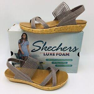 Skechers Women's Brie Dawdle Stretch Vamp Slingback Sandal Size 8.5 Mave