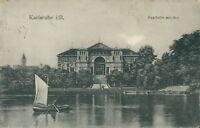 Ansichtskarte Karlsruhe i. B. Festhalle mit See 1913 (Nr.759)