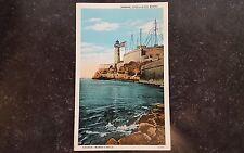 Vintage Postcard Havana Beach View Castillo Del Morro