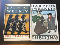 1898 & 1899 HARPER'S WEEKLY CHRISTMAS EDITION PRINTS- Cover