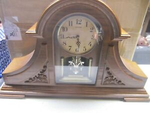 JOYFUL KING  MANTEL CLOCK WOODEN CASE 28 MELODIES  CRH205UR06 SWAROVSKI