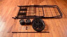 Folding Shopping Cart Jumbo Basket With Swivel Wheels
