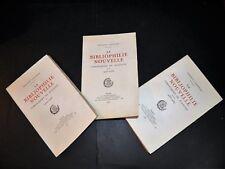 VANDEREM Bibliophilie Nouvelle Chroniques Bulletin Tirage 530 Ex 3T COMPLET 1931