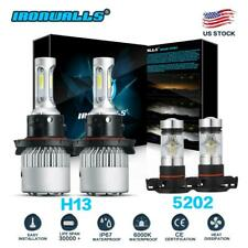 for GMC Yukon XL 1500 2007-2014 LED Headlight + Fog Light Bulbs 6000K High Low