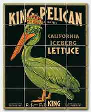 Fruit Crate King Pelican Ceramic Mural Backsplash Kitchen 17x22 in