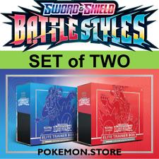 2x Battle Styles Elite Trainer Box ETB Pokemon TCG Sword & Shield Urshifu Set