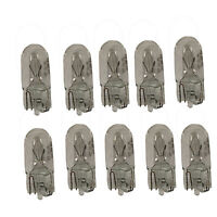 10 x 504 CAPLESS WEDGE CAR AUTO DASHBOARD LIGHT BULBS BULB 12V 3W
