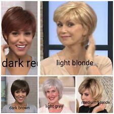 Womens Bob Wig Medical Hair Loss QVC £99 Toni Brattin- Brown, Red, Grey & Blonde