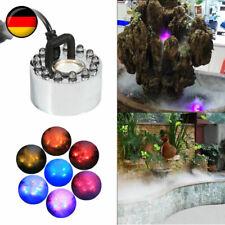 Wasser Nebler Zerstäuber Dekoration Nebelmaschine Wasser Brunnen Teich Fog DE