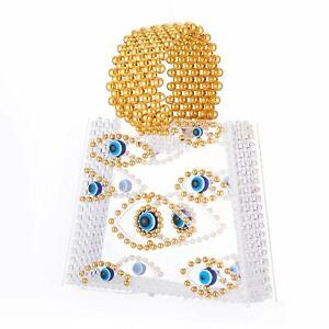 Milanblocks Evil Eye Beaded Acrylic Clutch Bag