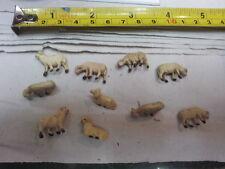 10 animali terracotta pecore per pastori 3,5 cm x landi presepe shepherds crib
