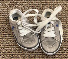 Ralph Lauren Boys Canvas Shoes size 6 Baby Infant Distressed