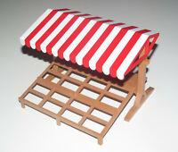 Playmobil Accessoire Décor Stand Marchand Commerce Marché 15x15x12 cm NEUF