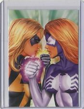 2008 Women of Marvel Embossed card T10 Ms Marvel vs Spider-Woman (RA Exclusive)