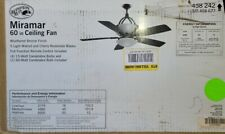 Hampton Bay Miramar 60 in. Indoor Weathered Bronze Ceiling Fan with Light (53)