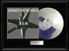 R.E.M. Automatic For The People White Gold Silver Platinum Tone Record Lp Rem